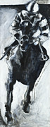 Racehorse Paintings -  Racehorse and Jockey  by Francine Stuart