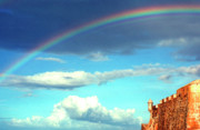 Old San Juan Photo Prints -  Rainbow over El Morro Fortress Print by Thomas R Fletcher
