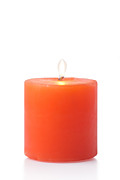 White Background Originals -  Red Candle by Atiketta Sangasaeng