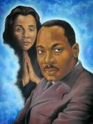 Martin Luther King Jr Pastels Posters -   Remember The Dream Poster by Joyce Hayes