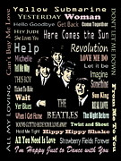 Beatles John Lennon Paul Mccartney George Harrison Ringo Starr Music Rock Icon Framed Prints -  Revolution Framed Print by Andrzej  Szczerski