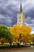 Time For Change Prints -  Richmond Church Tree Autumn Print by Joe Lategan