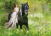 Gypsy Digital Art -  Riding with the Romany by Trudi Simmonds