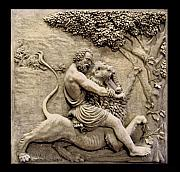 Sculpture Sculptures Reliefs -  Samson slaying the lion  by Goran Gecovski