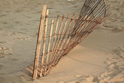 Asbury Park Photo Originals -  Sandy Beach Fence by Ann  Murphy
