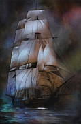 Pirate Ship Prints -  Sea stories.... Print by Andrzej  Szczerski