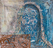 Crucifix Art Paintings -  See Me See My Father and The Spirit by Thomas Lentz