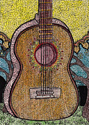 Acoustic Guitar Drawings - # Six by Barbra Drasby