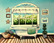 White House Mixed Media -  Soak in the Tub by Elizabeth Robinette Tyndall