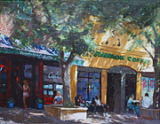 Coffee Paintings -  Starbucks Hangout by Ylli Haruni