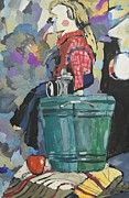 Stillife Mixed Media -  Stillife with the Puppet by Radjap Rakhmangulov