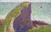 Dots Painting Framed Prints -  Study for Le Bec du Hoc Framed Print by Georges Pierre Seurat