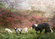 Sheep Farm Prints -  The Babysitter Print by Trudi Simmonds
