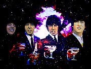 Champagne Glasses Digital Art Framed Prints -  The Beatles Framed Print by Andrzej  Szczerski
