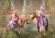 Pony Digital Art -  The Birthday Invitation by Trudi Simmonds