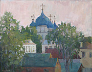 Russia Paintings -  the city Suzdal a favourite place by Juliya Zhukova