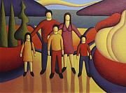 Bluesky Painting Prints -  The family Print by Alan Kenny