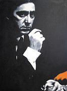 The Boss Painting Metal Prints - - The Godfather - Metal Print by Luis Ludzska