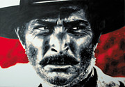 Original Cowboy Paintings - - The Good The Bad and The Ugly - by Luis Ludzska