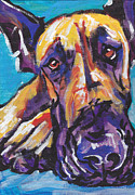 Modern Dog Art Paintings -  The Great Danish by Lea