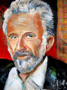 Art In Acrylic Painting Framed Prints -   The Most Interesting Man In The World Framed Print by Jon Baldwin  Art