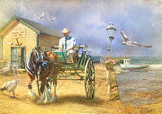 Horse And Cart Posters -  The Pelican Pantry Poster by Trudi Simmonds