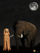 South African Mixed Media Prints -  The Scream World Tour African Elephant  Print by Eric Kempson