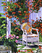 Hanging Painting Posters -  The Sunchair Poster by David Lloyd Glover