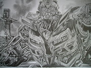 Bumblebee Drawings -  Transformers Two Bumblebee by Ng Hoi Yee