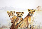 Paula Steffensen Art -  Triple the trouble . by Paula Steffensen