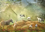 Barn Digital Art Posters -   Poster by Trudi Simmonds