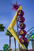 Gambling Photos -  Vegas Sign by Garry Gay