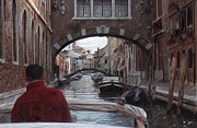Venice Mixed Media -  Venice canal digital oil painting by Heinz Mielke