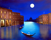 Larry Cirigliano Acrylic Prints -  Venice Nights Acrylic Print by Larry Cirigliano