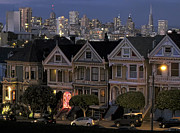 Painted Ladies Framed Prints -  VICTORIAN PAINTED LADIES of ALAMO SQUARE - SAN FRANCISCO Framed Print by Daniel Hagerman