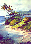 Caribbean Sea Paintings -  Vieques Island Puerto Rico by Estela Robles