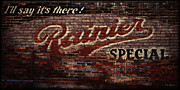 Vintage Sign Prints -  Vintage Rainier Sign Print by DMSprouse Art