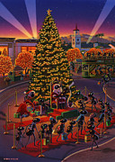Hollywood Paintings -  Visiting Santa Anta  by Robin Moline
