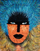 Feathered Hat Paintings -  Viva Niva by Natalie Holland