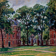 Abstract Realist Landscape Prints -  Williams College Quad Print by Thor Wickstrom