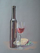 Red Wine Drawings Originals -  Wine by Ahto Laadoga