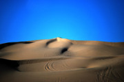 Bureau Prints -  Yuma Dunes Number One Bright Blue and Tan Print by Heather Kirk