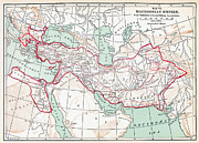 Map Of Macedonian Empire Print by Granger