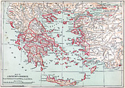 Map: Ancient Greece Print by Granger