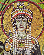 Byzantine Painting Posters - THEODORA (c508-548) Poster by Granger