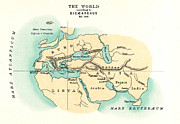 Arabia Framed Prints - WORLD MAP, c300 B.C Framed Print by Granger