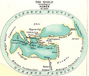 World Map Painting Posters - WORLD MAP, c1000 B.C Poster by Granger