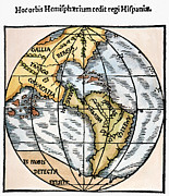 Woodcut Paintings - World Map, 1529 by Granger