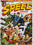 Book Cover Prints - World War Ii: Comic Book Print by Granger