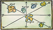 Woodcut Paintings - Azores, 1528 by Granger